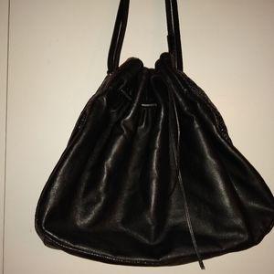 Kate Spade snake skin and leather drawstring bag